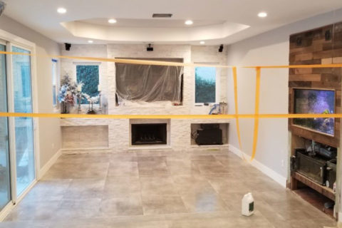 Los Angeles flooring contractors installed new flooring in home.